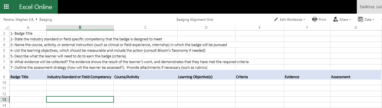 Badge Alignment Grid