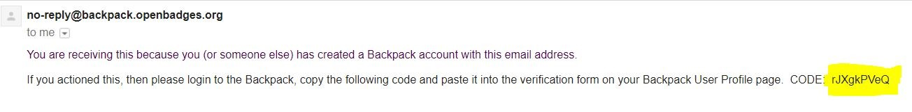 Verify Backpack Account