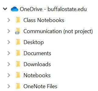select folder on OneDrive