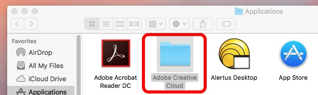 Adobe Creative Cloud folder