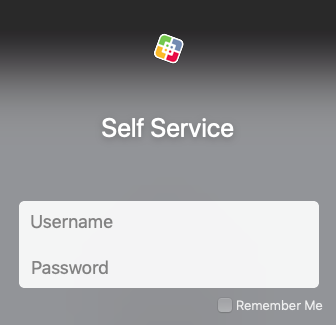 The Self-Service login uses your standard Network account credentials
