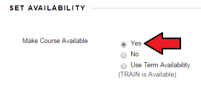 Set Availability, Yes, No, Use Term Availability