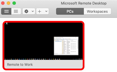 Double-click on Remote to Work