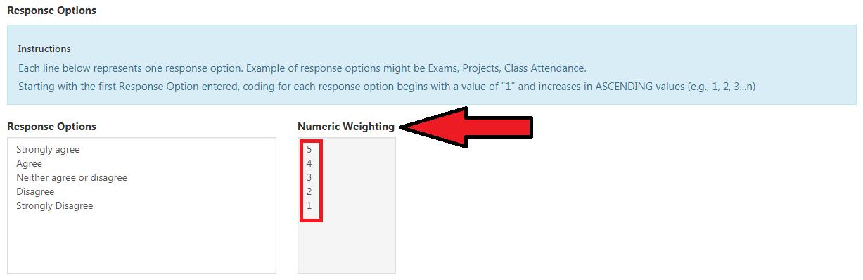 Numeric Weighting numbers reversed.