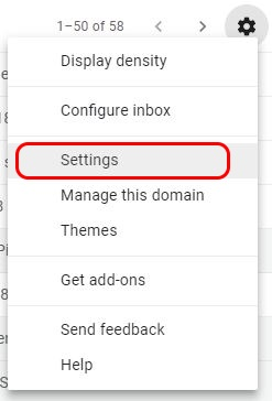 Click Gear and select Settings