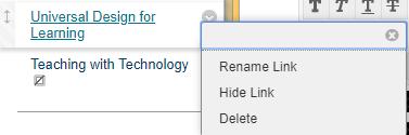 delete link