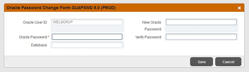 Enter old password and new
