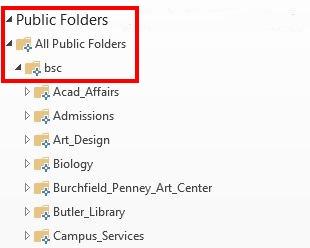 Expand Public Folders - All Public Folders - BSC
