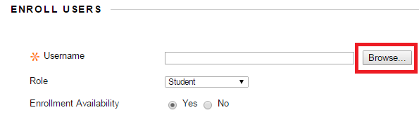 Enroll Users with Browse to the right.