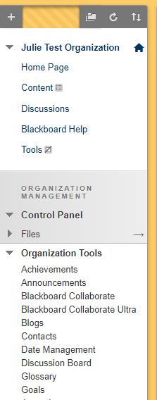 Organization Tools in Blackboard