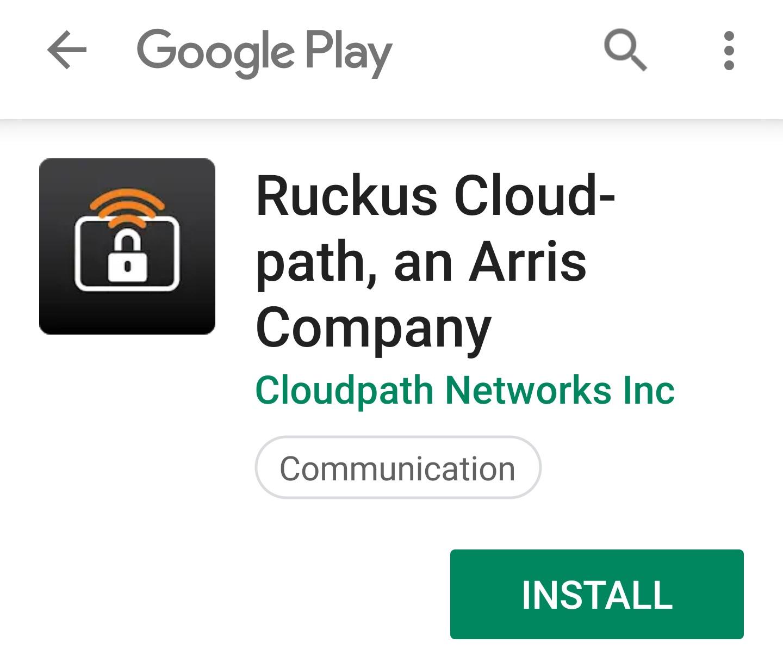 Install Ruckus Cloudpath app