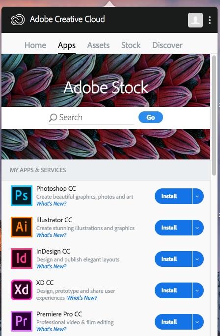 Click blue install button