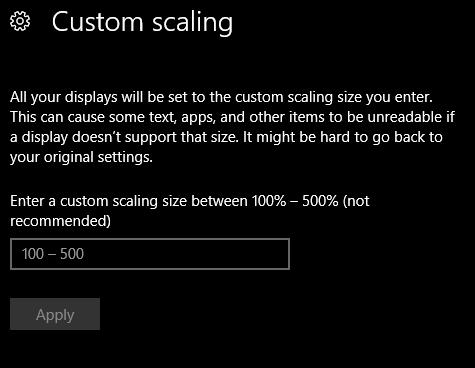 custom scaling window