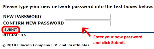Change password and click submit