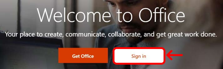 Sign in to Office.com
