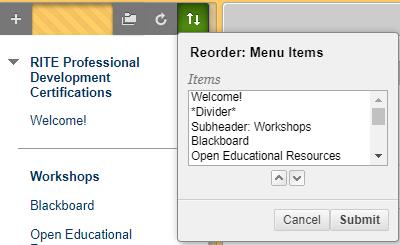 accessible menu reorder