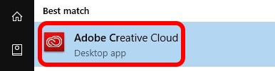 Select Adobe Creative Cloud App